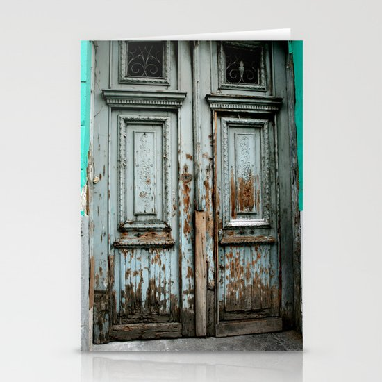Turquoise Door Stationery Cards