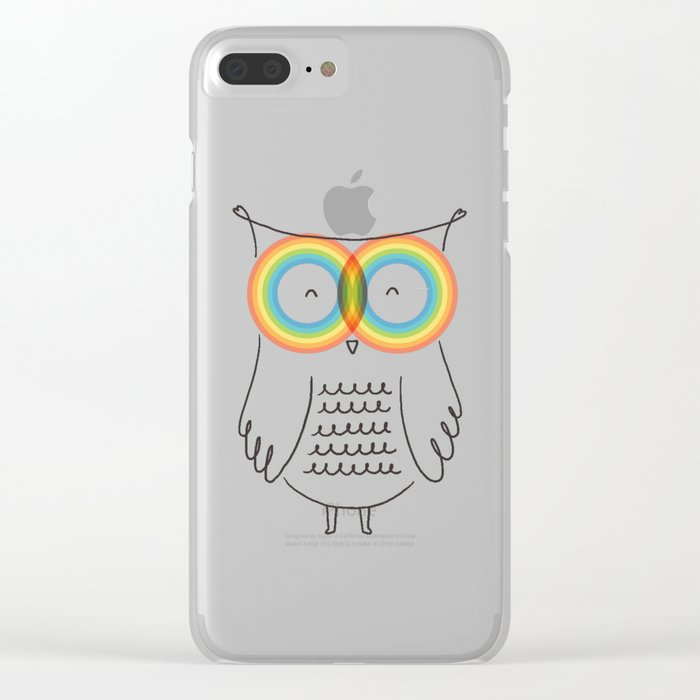 RainbOwl Clear iPhone Case