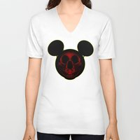 mickey V-neck T-shirts featuring Mickey by nicebleed