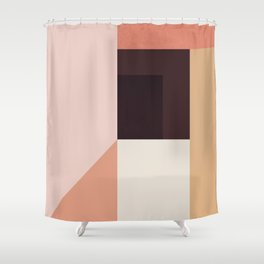 Abstraction_Colorblocks_001 Shower Curtain