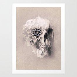 Decay Skull Light Art Print