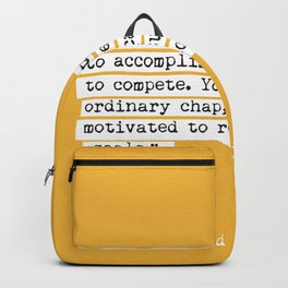 Edmund Hillary quote Backpack