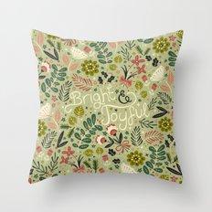 Bright & Joyful Throw Pillow