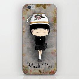 Black Tea Girl iPhone Skin