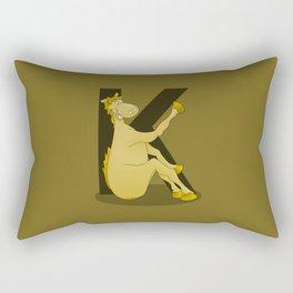Pony Monogram Letter K Rectangular Pillow