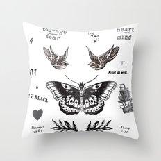 Tattoo à la Harry Throw Pillow
