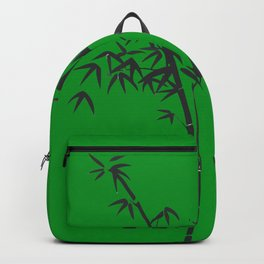 Bamboo black - green Backpack