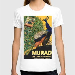 Vintage 1915 Turkish Cigarette Murad Peacock Lithograph Advertisement T-shirt