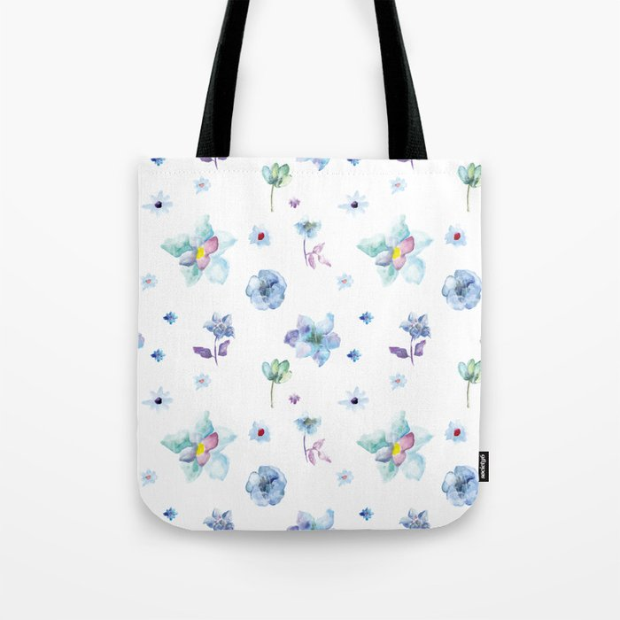 Delicate Floral Pattern 02 Tote Bag