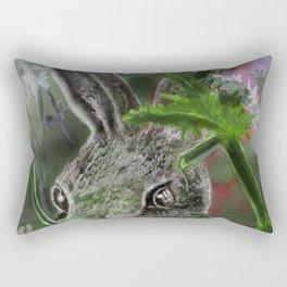 Sylvilagus floridanus- cottontale rabbit Rectangular Pillow