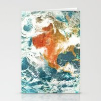 earth Stationery Cards featuring Earth by Terry Fan