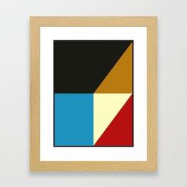 Mid Century Geometric A Framed Art Print