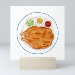Watercolor Illustration of a Cuisine - Roasted chicken Mini Art Print