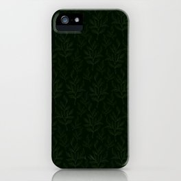 Twig Leaves - Green Forest Color iPhone Case