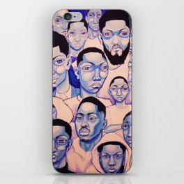 Black Boy Blues iPhone Skin
