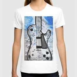 Guitar Art. Featured on back cover of The Music and Art of Black Cat Records. T-shirt