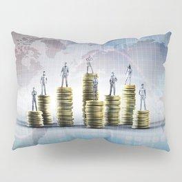 Business Finance Report Presentation Chart Background Abstract Pillow Sham