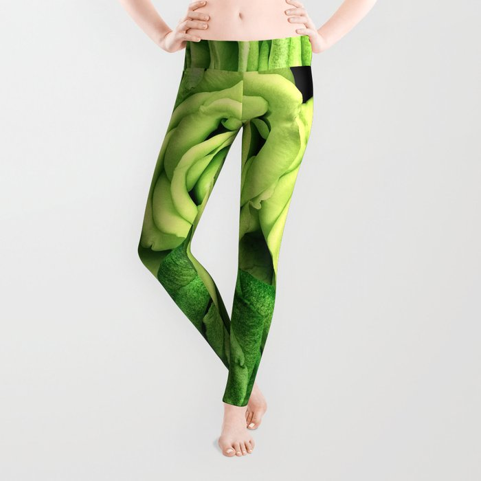 Green Roses Leggings