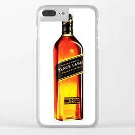 Johnny Black Clear iPhone Case