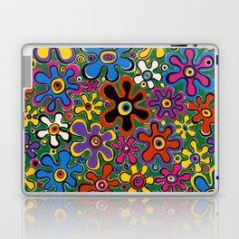 Floral Spin by Nettwork2Design - nettie heron-middleton Laptop & iPad Skin