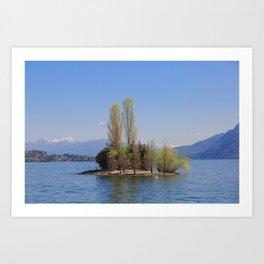 Romantic Island of Love on Lake Maggiore in Italy Art Print