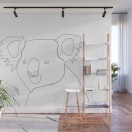Koala - Minimal line drawing Wall Mural