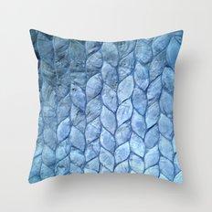 Ocean Blue Shell Throw Pillow