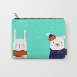hare and bear Carry-All Pouch