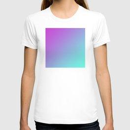 Dark Magenta Pink Purple and Light Cyan Aqua Blue Green Gradient Ombré T-shirt