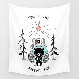 Adventure Bear Wall Tapestry