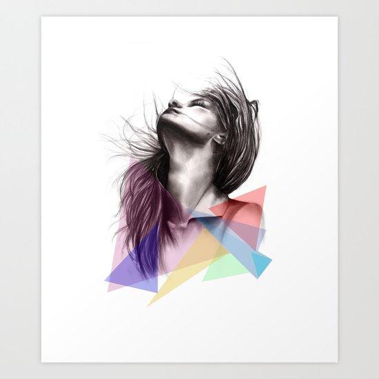 Crystalised // Fashion Illustration  Art Print