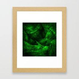 Fresh green nature Framed Art Print