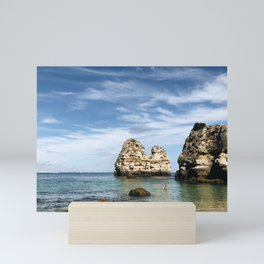 Care to Go for a Dip, Madame? / Lagos, Portugal Mini Art Print