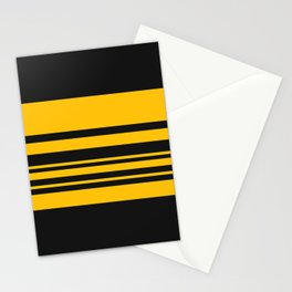 Yellow stripes on black Stationery Cards