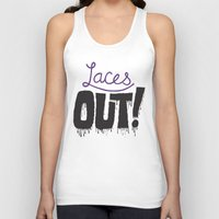 patriots Tank Tops featuring Laces out! by Chris Piascik