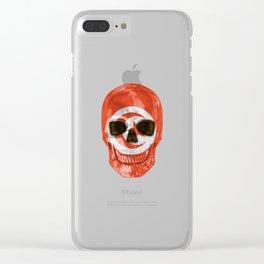 Skull Flag Of Tunisia Clear iPhone Case