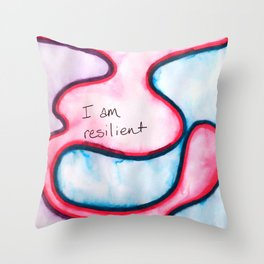 I am Resilient Throw Pillow