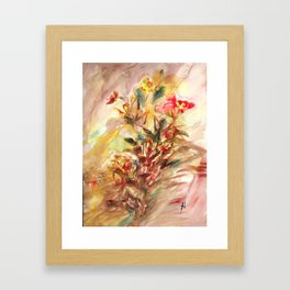 Sensual flower 3 Framed Art Print