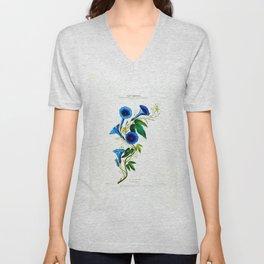 La Celestine Vintage Botanical Flore D Amerique Unisex V-Neck
