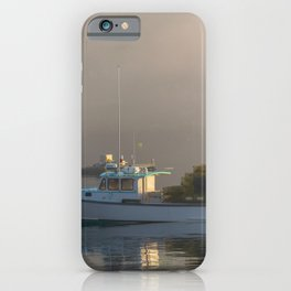 Lobster Boat Maine Fog Print iPhone Case
