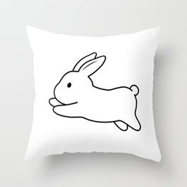 Tobe & Friends – A binky rabbit Throw Pillow