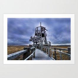 Observation Tower - Great Salt Lake Shorelands Preserve - Utah Art Print