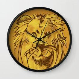 Golden King | Rei dourado Wall Clock