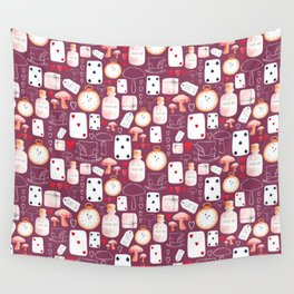 Alice in Wonderland - Purple Madness Wall Tapestry