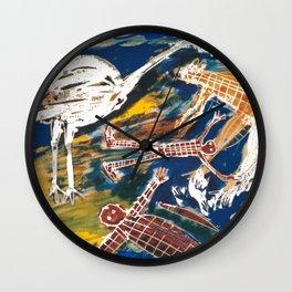 Rock Paintings AUSTRALIA Wall Clock