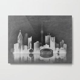 Toronto Canada - Black and White, negative, blackboard Metal Print