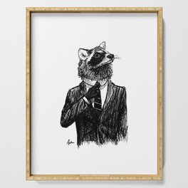 Dapper Raccoon Serving Tray