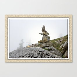 TINY STONE CAIRN Canvas Print