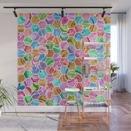 Marble Hive Jewels Wall Mural