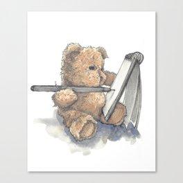 Teddy Bear Artist Canvas Print